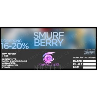 TWISTED FLAVOURS - Smurfberry Aroma  (MHD WARE)