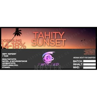 TWISTED FLAVOURS - Tahity Sunset Aroma (MHD WARE)