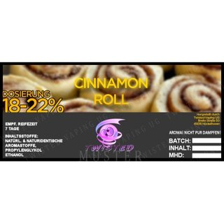 TWISTED FLAVOURS - Cinnamon Roll Aroma (MHD WARE)