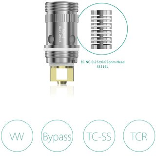 ELEAF - 5er Pack iJust 2 / Melo / Lemo 3 NC Notch Coil
