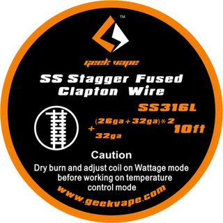 GEEK VAPE - SS Stagger Fused Clapton Wire - 10ft