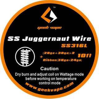 GEEK VAPE - SS Juggernaut Wire ZS04 - 10ft