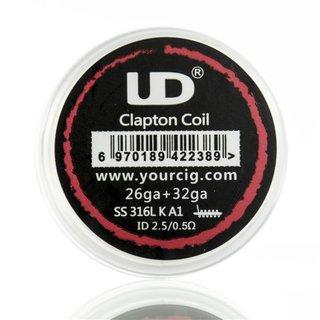 UD - 10er Box Prebuilt Clapton Coils