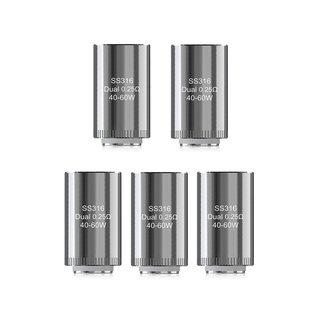 ELEAF - 5er Pack Lyche Dual Coils Verdampferköpfe 0,25 Ohm
