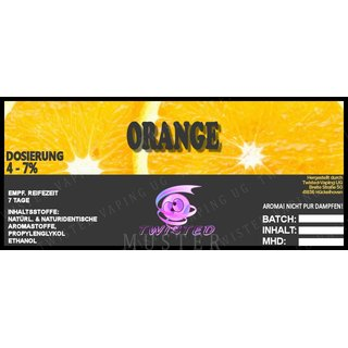 TWISTED FLAVOURS - Orange Aroma (MHD WARE)