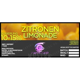 TWISTED FLAVOURS - Zitronen Limonade Aroma (MHD WARE)