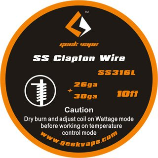 GEEK VAPE - SS Clapton Wire - 10ft