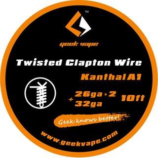 GEEK VAPE - Twisted Clapton Wire 26ga*2+32ga - 10ft