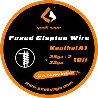 GEEK VAPE - Fused Clapton Wire Kanthal A1 ZK09 - 10ft