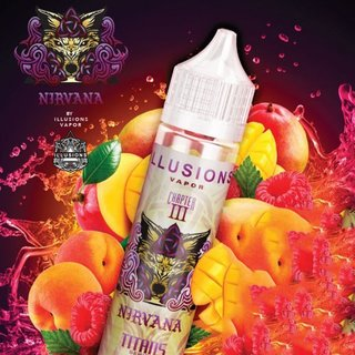 ILLUSIONS - Nirvana Liquid (Mango, Pfirsich & Himbeere) 50ml PLUS