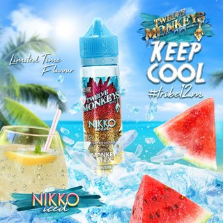 TWELVE MONKEYS - ICE AGE - Nikko Ice (Wassermelone, Limonade, Ice) 50ml Liquid PLUS