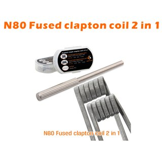GEEK VAPE - 4 + 4 Pack N80 Fused Clapton Coil F203 2 in 1