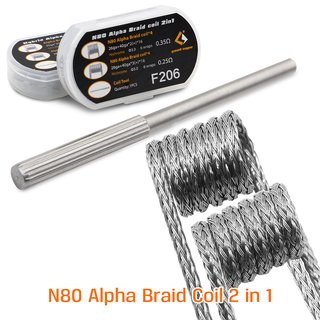 GEEK VAPE - 4 + 4 Pack N80 Alpha Braid Coil F206 2 in 1