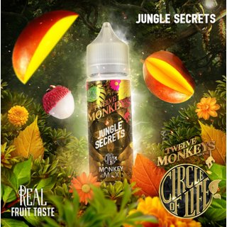 TWELVE MONKEYS - Jungle Secrets (Mango & Lychee) 50ml Liquid PLUS