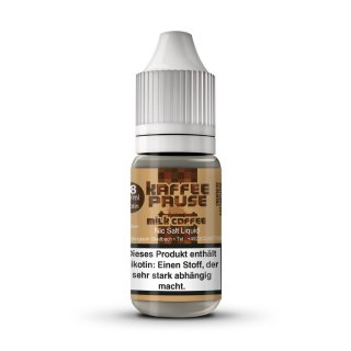 STEAMSHOTS - Kaffeepause Milk Coffee Nikotinsalz Liquid 10ml